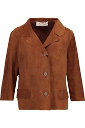Marni Suede Jacket Brown