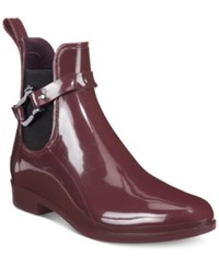 Nautica Seacoast Chelsea Short Rain Booties Women's Shoes Wine