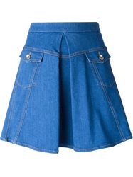 Love Moschino A Line Denim Skirt Blue