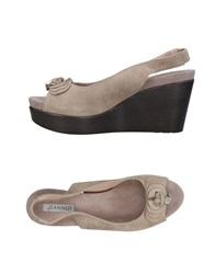 Jeannot Sandals Light Grey