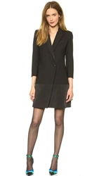 Band Of Outsiders Peak Lapel Blazer Dress Black