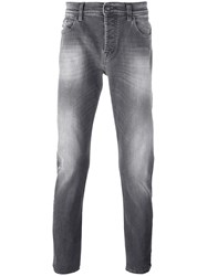 7 For All Mankind Light Stonewash Slim Fit Jeans Grey
