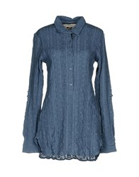 Scee By Twin Set Blouses Slate Blue