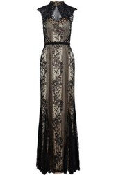 Catherine Deane Jess Corded Lace Gown Black