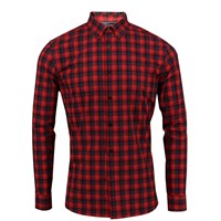 Lords Of Harlech Morris Shirt In Red Gingham