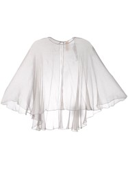 Maria Lucia Hohan Mousseline Cape Silver