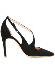 Rupert Sanderson Strappy Court Shoes Black