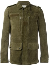 Saint Laurent Classic Military Jacket Green