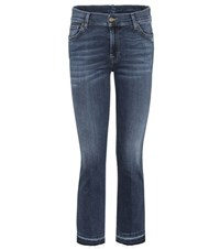 7 For All Mankind The Ankle Flare Cropped Jeans Blue