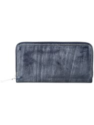 Whitehouse Cox Long Zipped Wallet Blue