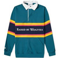 Raised By Wolves X Barbarian Rugby Top Blue