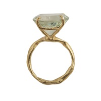 By Emily Green Amethyst Gold Ring Gold Green