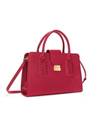 Folli Follie Fashion Braid Black Handbag Red