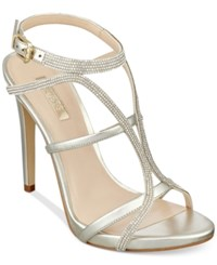 Guess Women's Adalee Rhinestone Dress Sandals Women's Shoes Silver