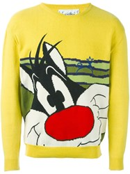 Jc De Castelbajac Vintage Sylvester Intarsia Jumper Yellow And Orange