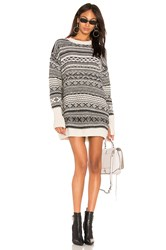 Nude Sweater Dress Black And White