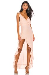 Amanda Uprichard Chandelier Maxi Dress Pink