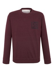Racing Green Owen Flocked Logo Sweat Red