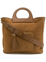 Max Mara Structured Handle Tote Nude And Neutrals