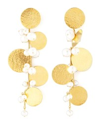 Pastilles Drop Earrings Herve Van Der Straeten Gold