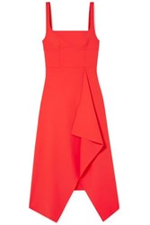 Dion Lee Stretch Crepe Midi Dress Red