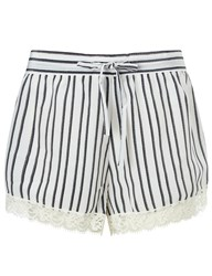 Macgraw White Lace Trim Fountain Shorts Multi