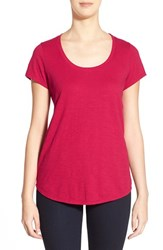 Women's Eileen Fisher Organic Cotton Scoop Neck Tee Red Rose