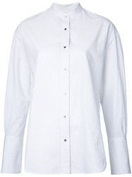 Le Ciel Bleu Striped Shirt White