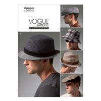 Vogue Men's Hat Sewing Pattern 8869