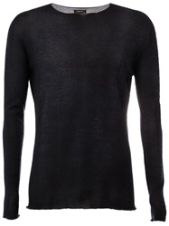 Avant Toi Faded Effect Jumper Blue