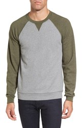 Tailor Vintage Men's Colorblock French Terry Sweatshirt Med Grey Army Heather
