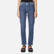 Samsoe And Samsoe Women's Lisa Jeans Worn 'N' Torn Blue