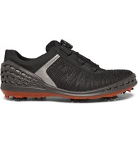 Ecco Golf Cage Rubber Panelled Mesh Golf Shoes Black