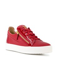 Giuseppe Zanotti Design Frankie Low Top Sneakers Leather Rubber Red