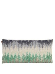 Missoni Home Weggis Rectangle Shape Jacquard Cushion Blue Multi