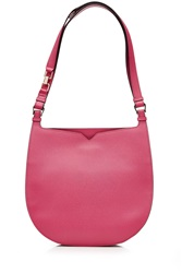 Valextra Weekend Hobo Leather Tote Pink