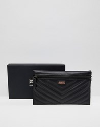 Barbour International Zip Travel Pouch Black