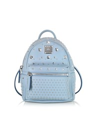 Mcm Stark Special Bebe Boo Sky Blue Leather Backpack Light Blue