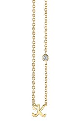 Shy By Se 'S Diamond Initial Pendant Necklace Gold K