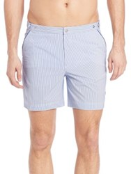 Robinson Les Bains Striped Swim Shorts Seersucker