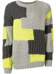 Christopher Raeburn Patchwork Jumper Grey