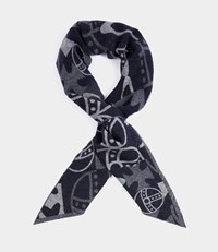 Vivienne Westwood Abstract Orb Scarf Blue