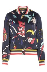 Ted Baker London Colour By Numbers Yavis Bomber Jacket Navy