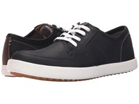 Hush Puppies Hanston Roadside Black Leather Men's Lace Up Casual Shoes