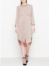 Reiss Zoe Shirt Dress Bronze