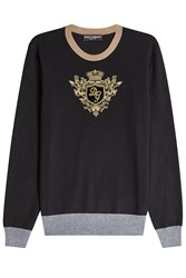 Dolce And Gabbana Cashmere Pullover With Embroidery None