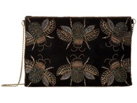 San Diego Hat Company Bsb3549 Beaded Bugs On Velvet Clutch With Gold Chain Black Clutch Handbags