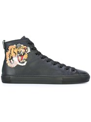 Gucci Tiger Hi Top Sneakers Black