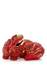 Judith Leiber Couture Ming Foo Dog Clutch Red