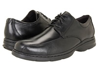 Dunham Bryce Bikefront Black Smooth Men's Lace Up Casual Shoes
